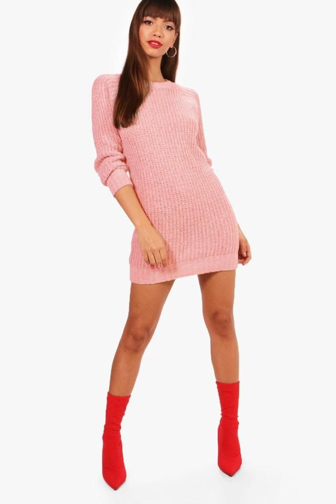 Boohoo Soft Knit Jumper Dress Blush Pink Size S LF180 FF 04  fashion   clothing  shoes  accessories  womensclothing  dresses (ebay link) 7b543c9ac