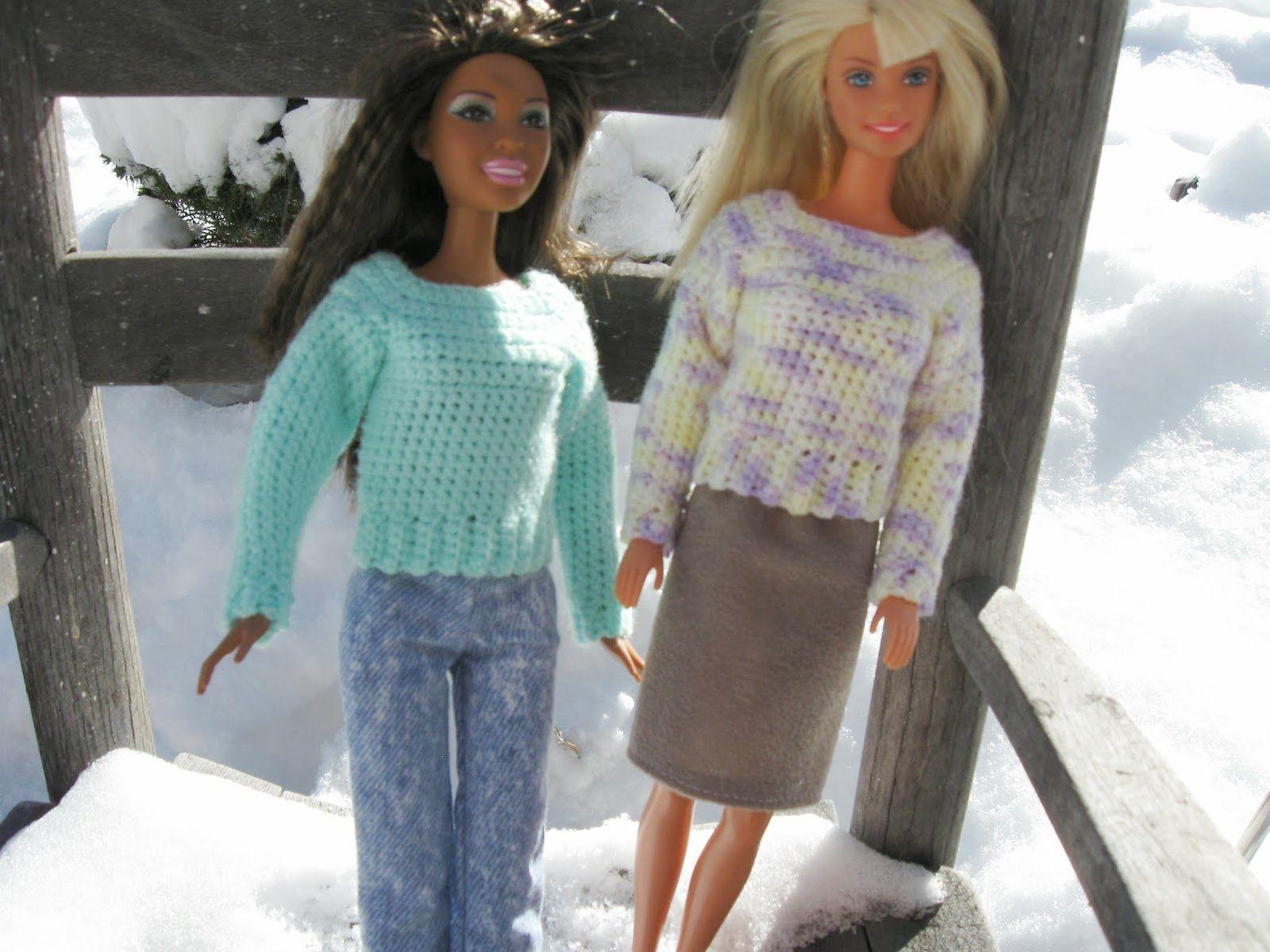 Haven Cottage Crafts: Barbie\'s Simple Crochet Sweater   crochet doll ...
