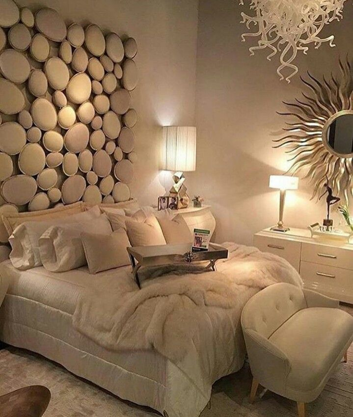 Gorgeous White Bedroom, White Decor, Soft Yellow/white Mood Lighting