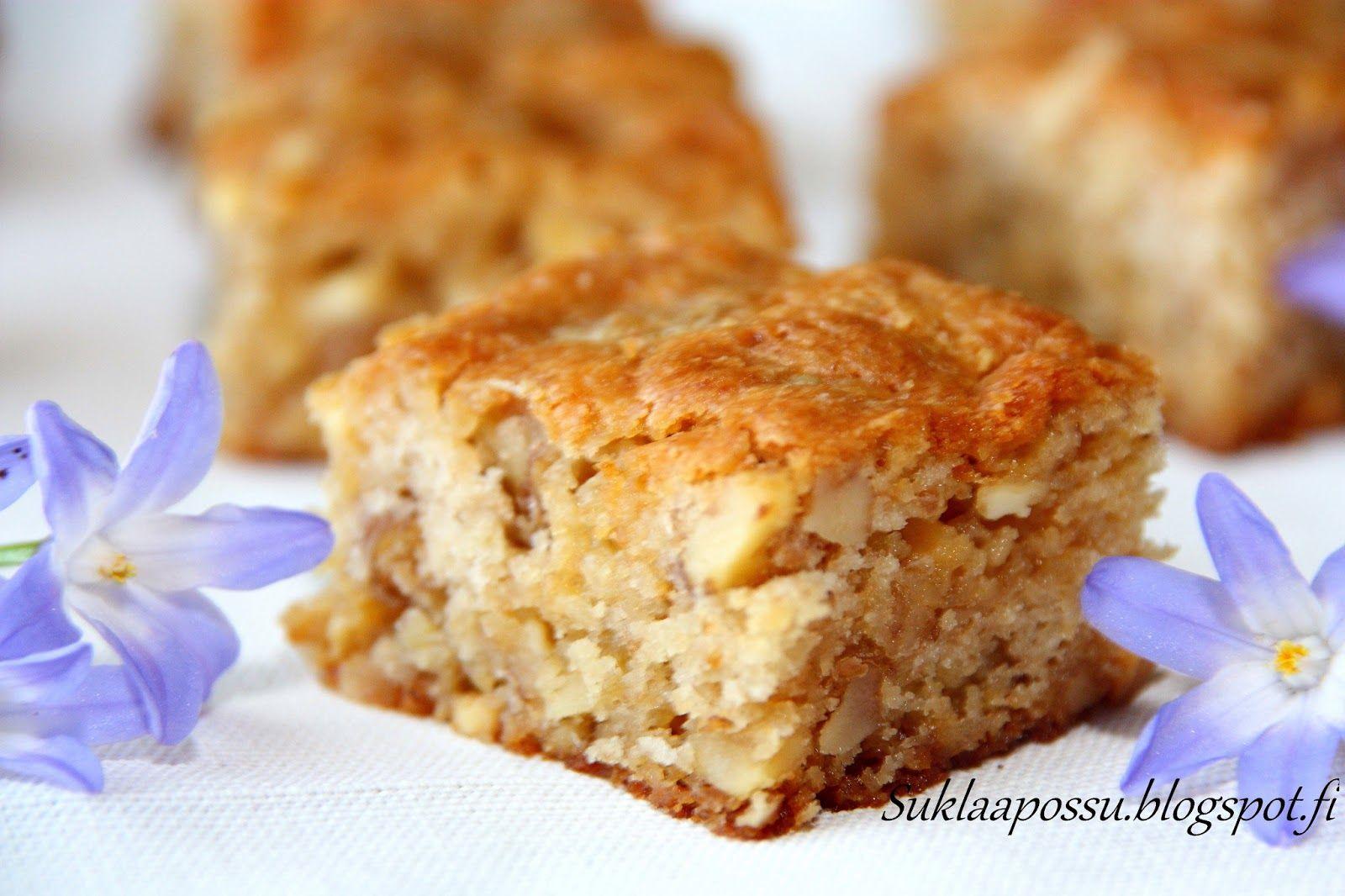 Suklaapossu: Valkosuklaa-pähkinä brownies