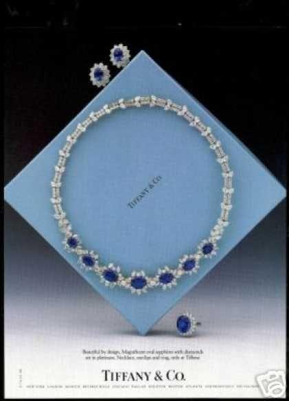 Tiffany & Co Diamond Sapphire Jewelry Photo (1987)