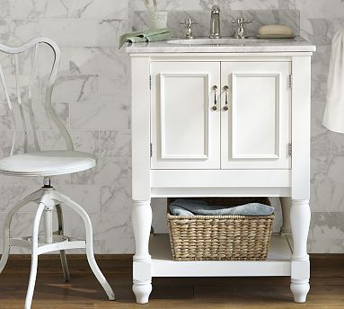 Newport Single Mini Sink Vanity Master Bath Remodel