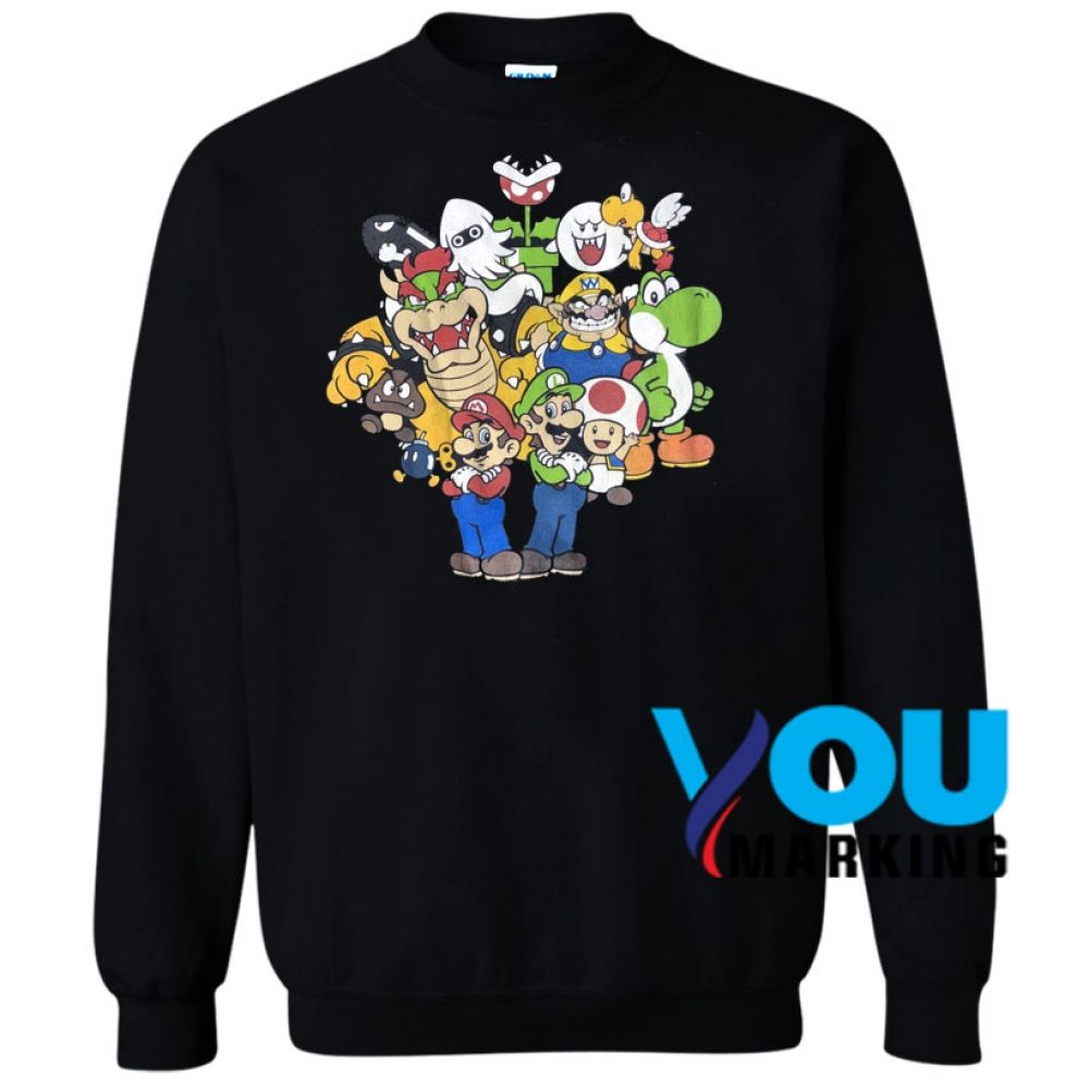 Graphic T Shirts Men Youmarking Sweatshirts Super Mario Brothers Shirts [ 1000 x 1000 Pixel ]