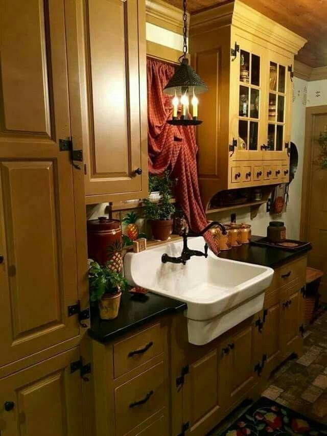 Pin de Shelley Arsenault en Primitive   Pinterest   Cocinas