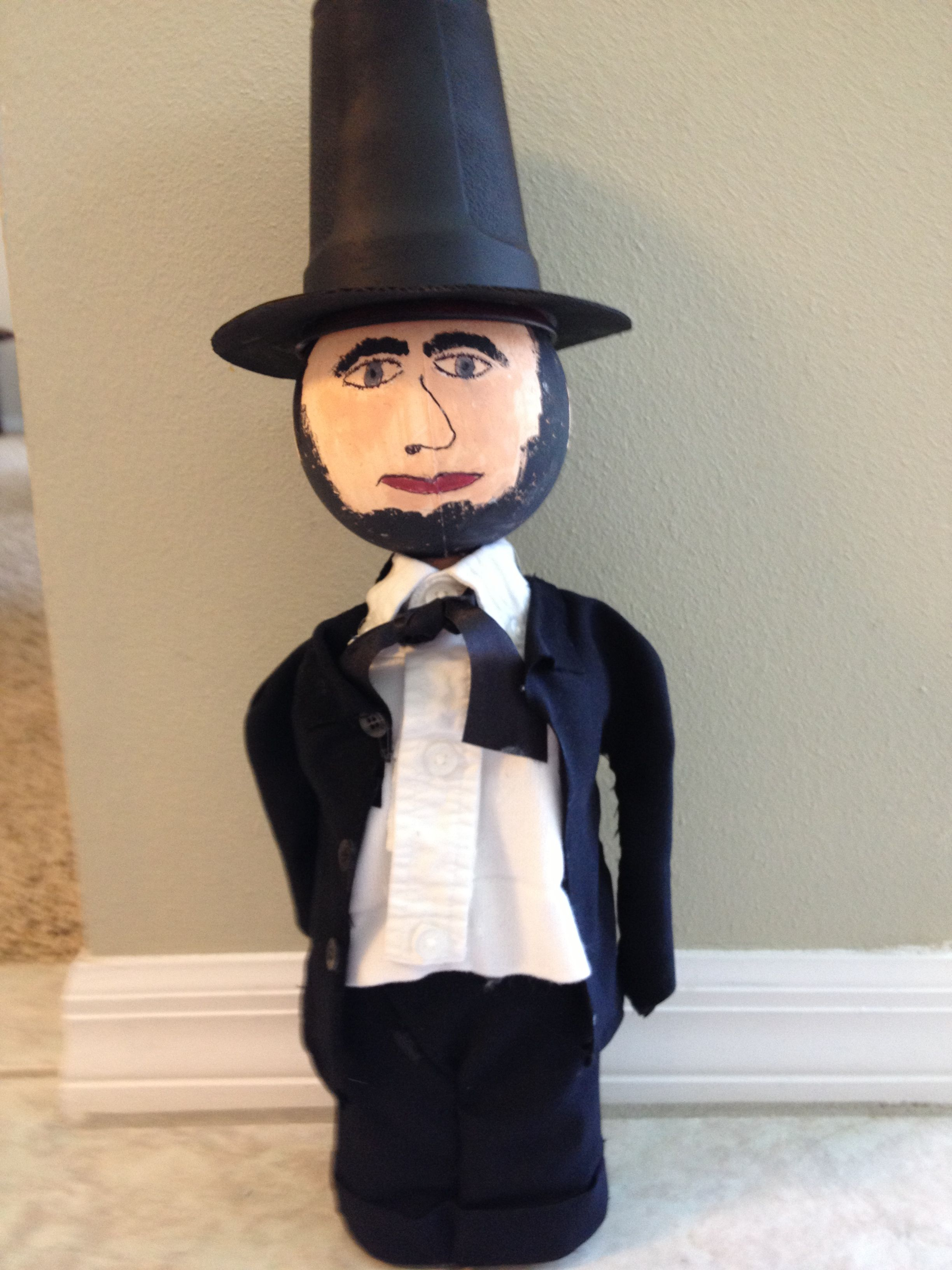 Abraham Lincoln Craft Abraham Lincoln Projects Bottle Buddy