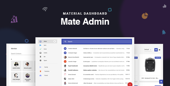 Mate React Redux Material Admin Dashboard By Redqteam A React Redux Powered Single Page Material Admin Dashboard Used P React App Templates Website Template