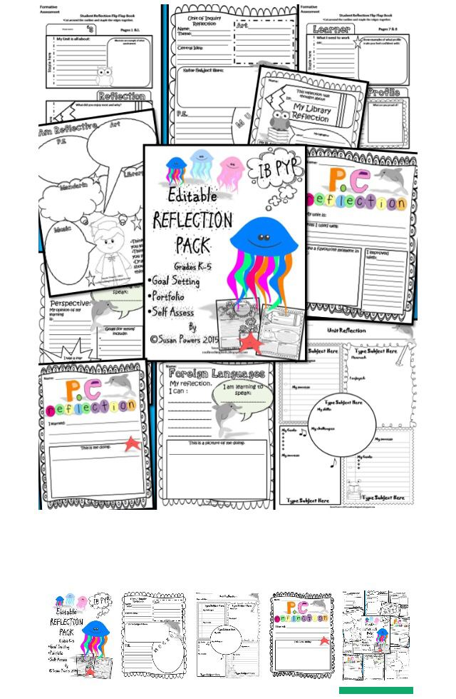 Editable Reflection And Goal Setting Templates With Ib Pyp  Goal