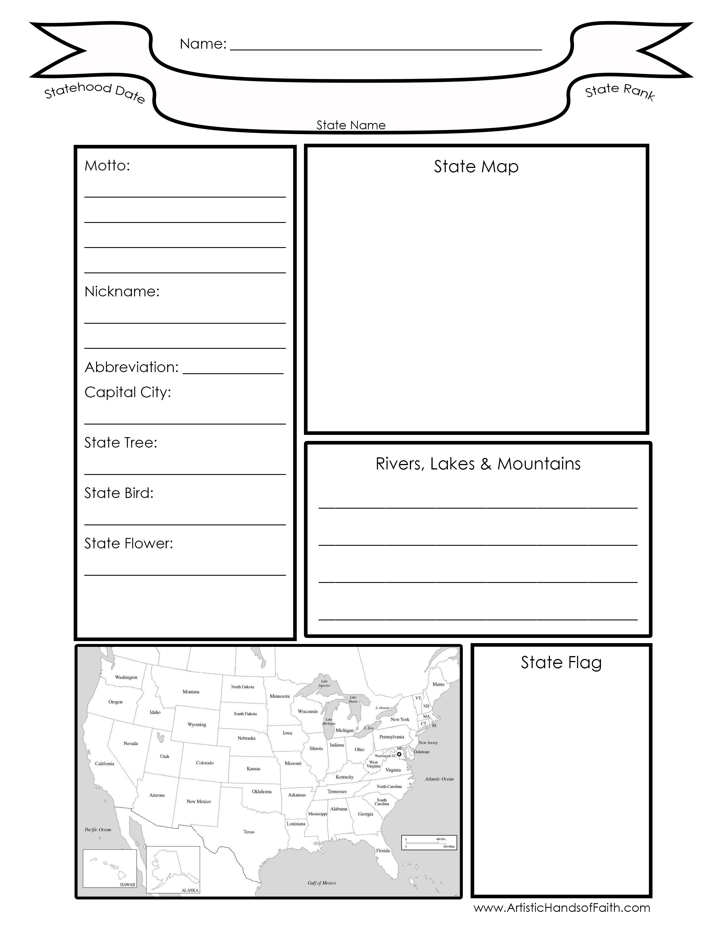 Arizona Geography Worksheet