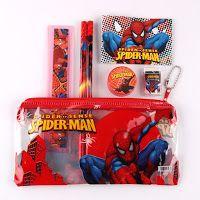 Gadget spiderman: 5 astuccio scuola bambino gadget regalo fine festa