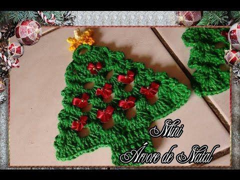 Mini Arvore De Natal Em Croche Para Aplique Youtube Mini