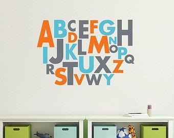 Alphabet wall decal vinyl alphabet  - small DB177