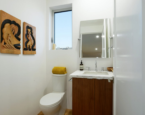 Convenient Bathroom Attached To The Office Space Of Waterloo Residence Modern Sleek