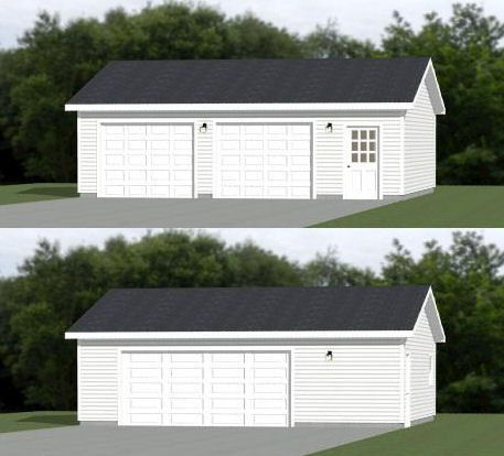 30x26 2 Car Garages 780 Sq Ft 12ft Walls Pdf Floor Etsy In 2020 Garage Door Design Detached Garage Designs Garage Plans Detached