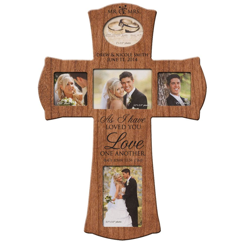 Gifts For Newly Wed Couple: Personalized Wedding Wall Cross, Cherry Wall Cross,Gift