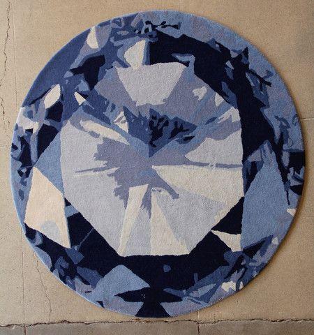 Gem Diamond Deep Ocean Odd Shaped Rugs Modern Rug Design Cool Rugs