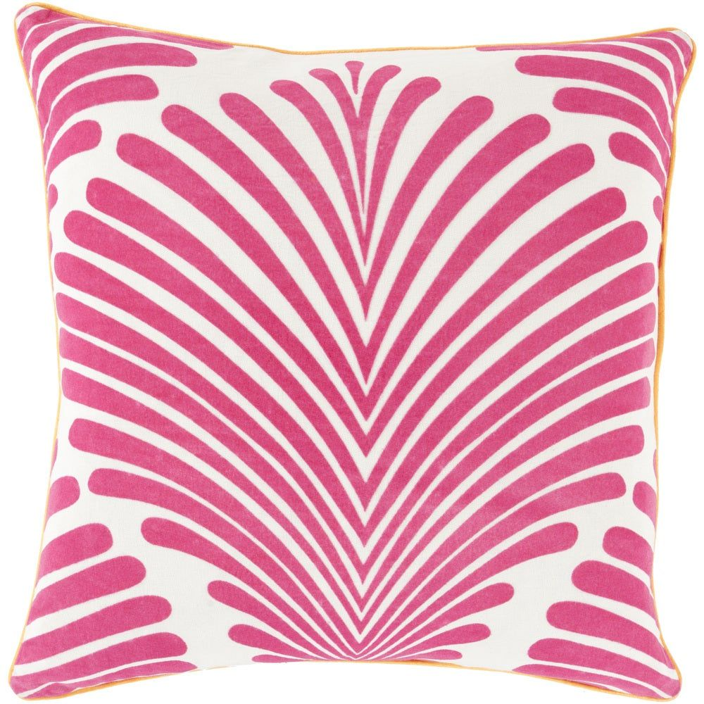Decorative Graphic Print Feather/Feather Down or Polyester Filled 18-inch PIll (Down), Pink
