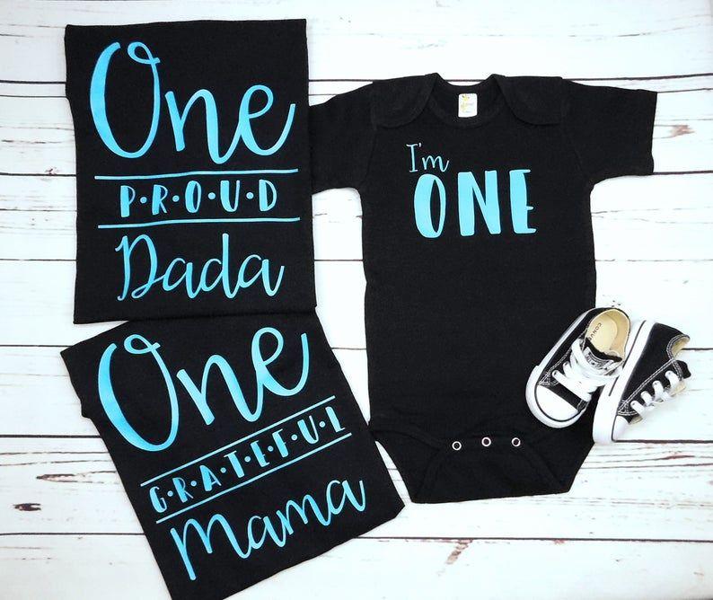 Custom Family Shirts for First Birthday 1st Birthday Boy