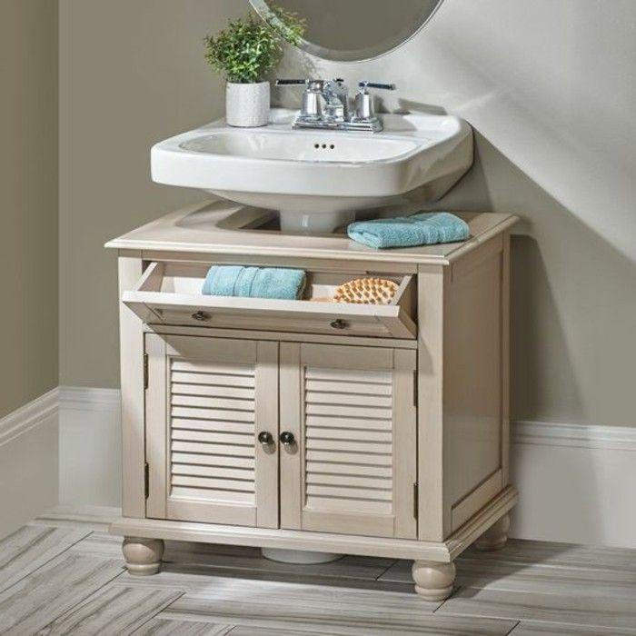 Le lavabo colonne en 81 photos inspirantes stockage - Petit meuble colonne salle de bain ...