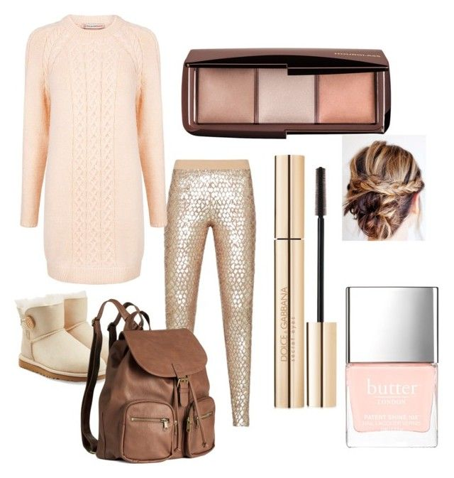 """""""Rose inspired comfy"""" by emily-hone on Polyvore featuring BCBGMAXAZRIA, Paul & Joe Sister, UGG Australia, H&M, Hourglass Cosmetics, Dolce&Gabbana and Butter London"""