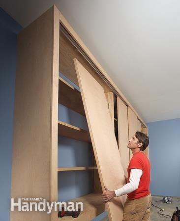 //.familyhandyman.com/garage/storage/giant-diy-garage -cabinet/view-all  sc 1 st  Pinterest & Giant DIY Garage Cabinet | Pinterest | Diy garage Garage storage ...