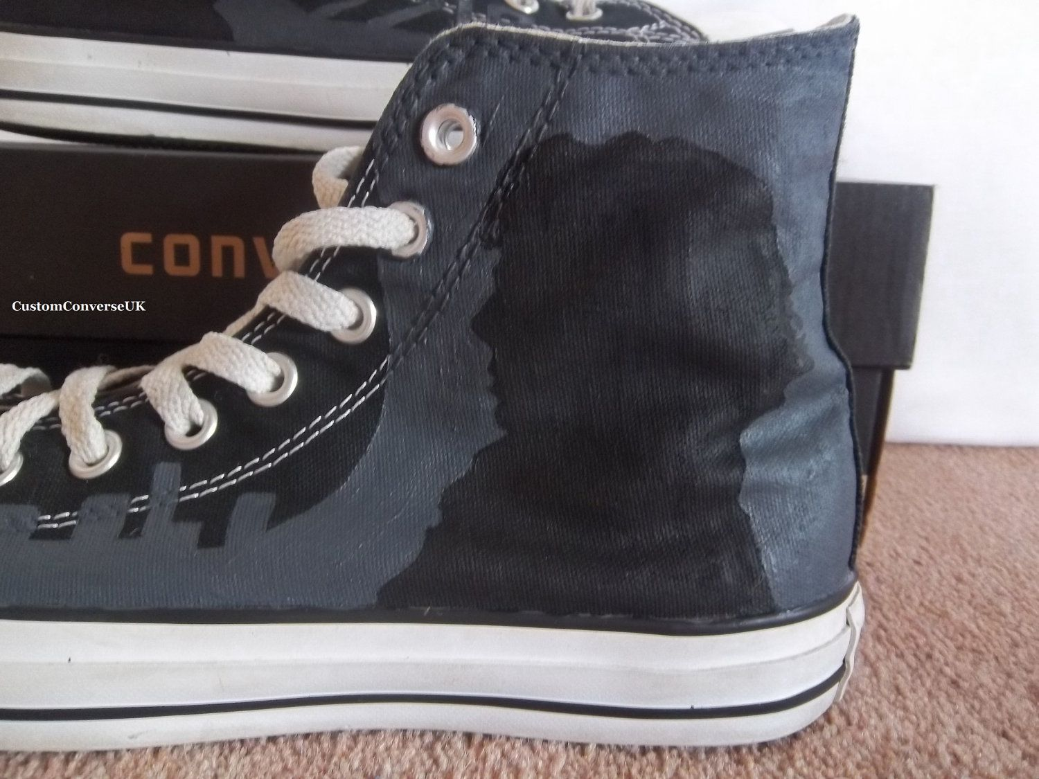 2e9ffe262656 BBC Sherlock Converse via Etsy.... Will someone buy me these  Pretty  please !