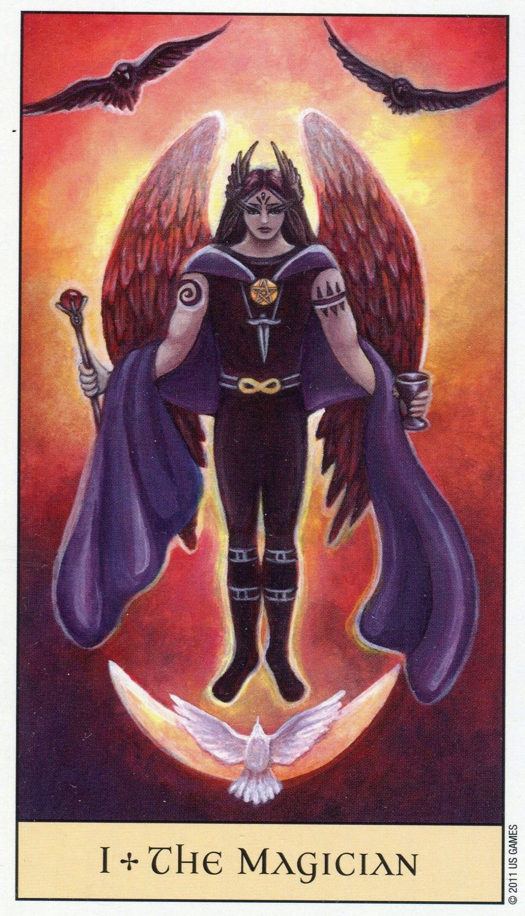 Magician From The Crystal Visions Tarot