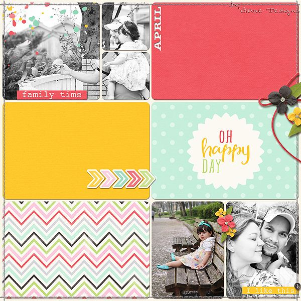 CREDITS: Life Captured - April Bundle by Digital Scrapbook Ingredients Font American Typewriter Photo:  My love, me and Nicolle