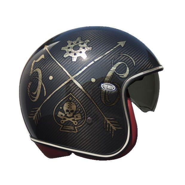 Premier Vintage Carbon Nx Gold Chromed Jet Helmet Buy Yours On Www Helmade Com Vintage Helmet Motorcycle Helmets Helmet