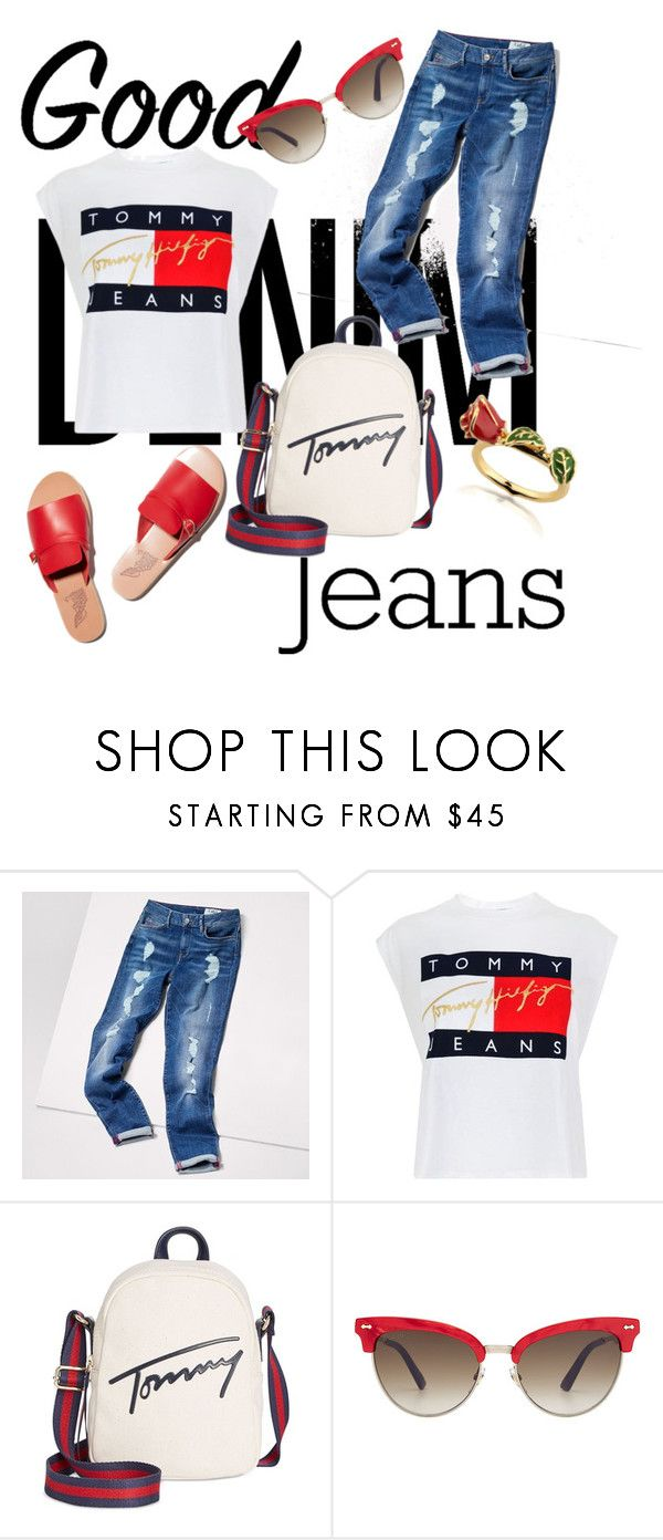 """""""Untitled #248"""" by esseeeeeeee ❤ liked on Polyvore featuring Tommy Hilfiger, Gucci and Disney"""