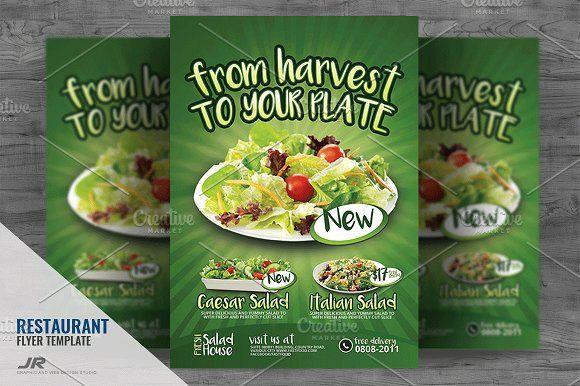 Salad Restaurant Flyer  Flyers  Nice Ad    Salad