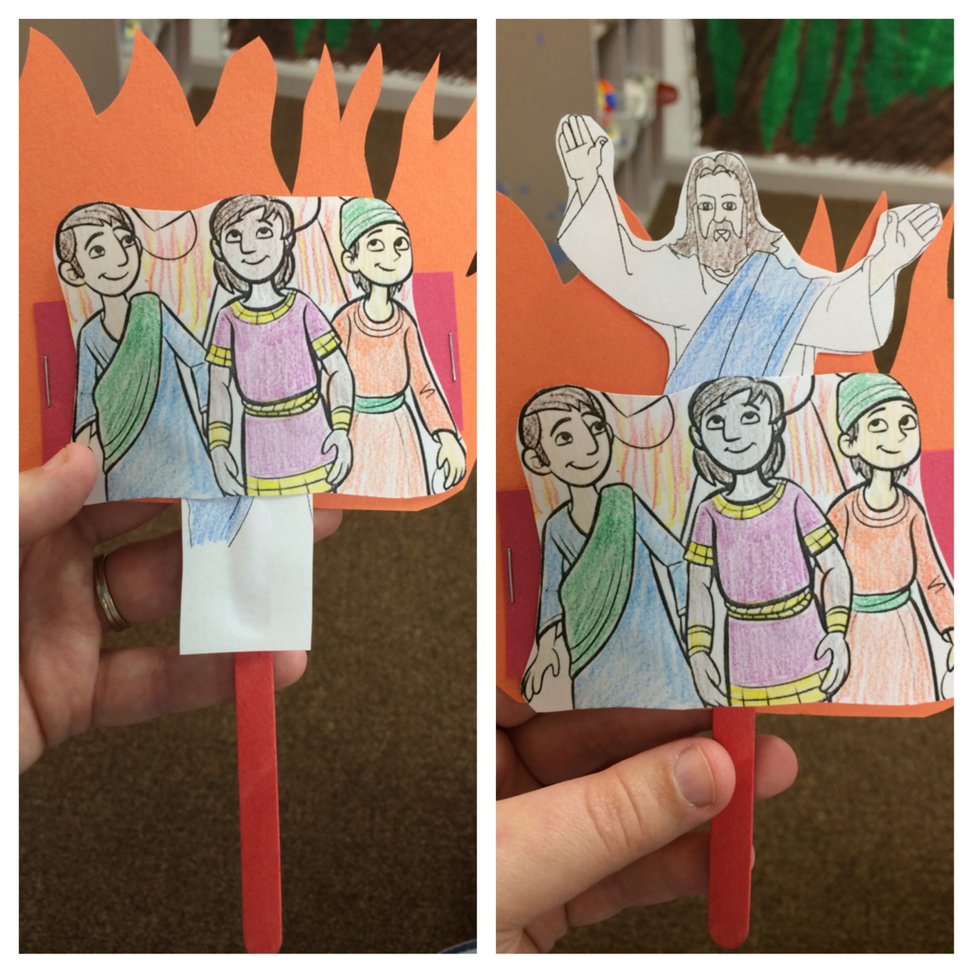 Great craft for teaching Shadrach, Meshach, and Abednego - pop up ...