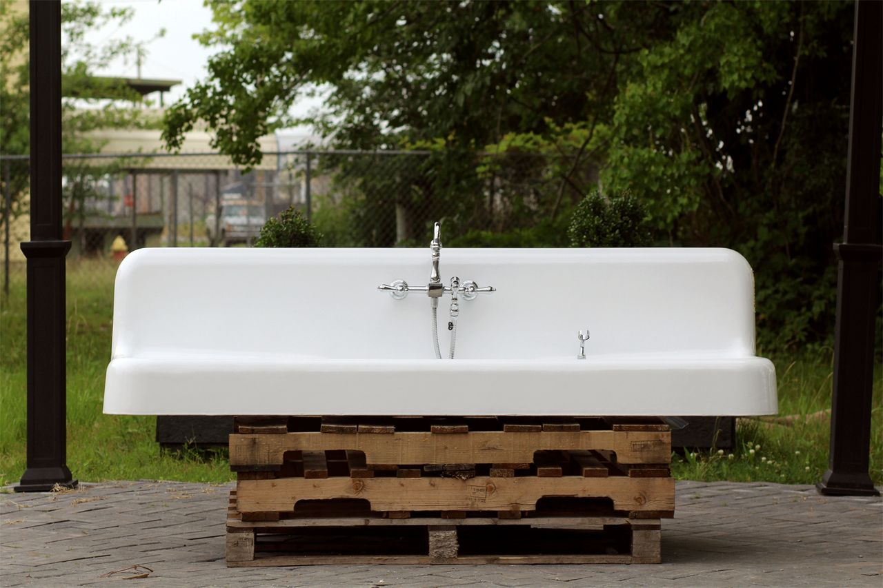 Large Double Drainboard Kohler 1928 Kitchen Sink Cast Iron