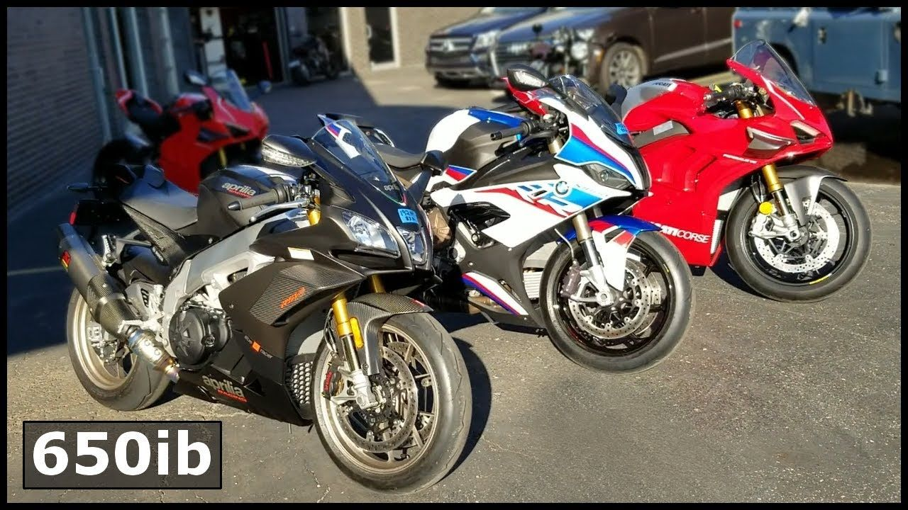 2020 BMW S1000RR M, Aprilia RSV4 1100 Factory, Ducati V4R | Same