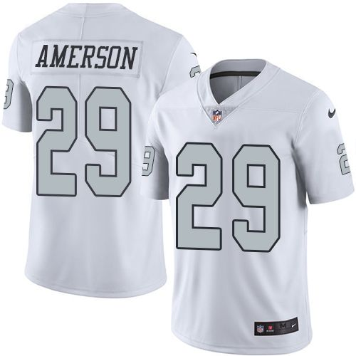 Men's Oakland Raiders #29 David Amerson White 2016 Color Rush Stitched NFL Nike Limited Jersey