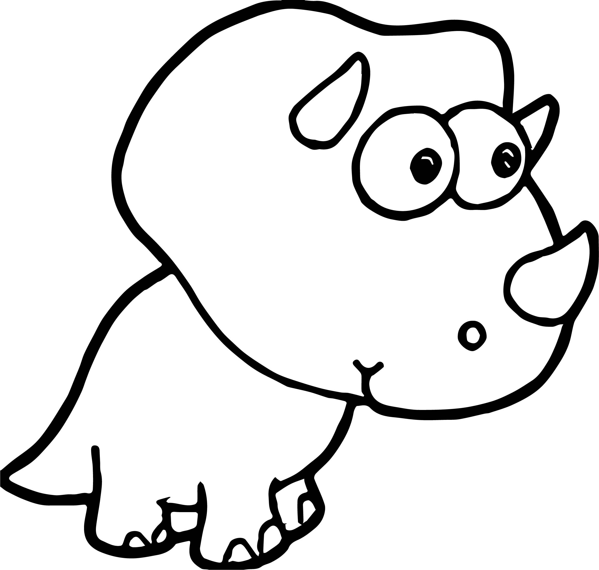 Cool Small Baby Dinosaur Coloring Page