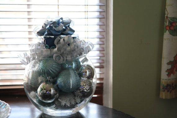 Unique Christmas Centerpiece Blue And By
