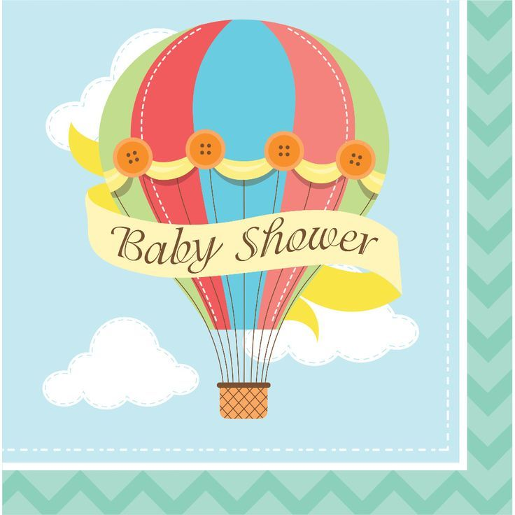 Up Up and Away Baby Shower Party Napkins. Pack of 16 ...