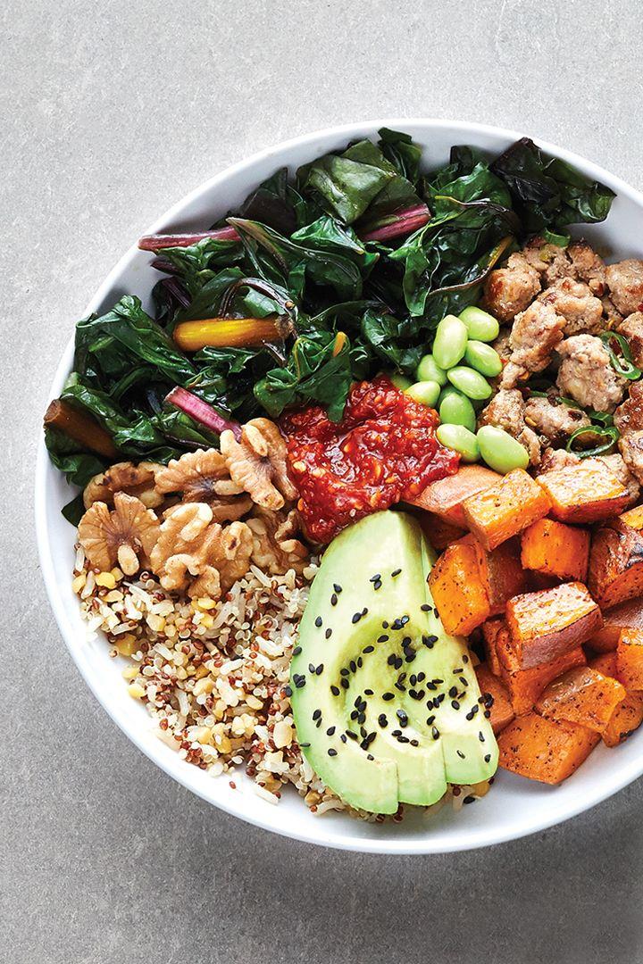 Recipe Turkey, Chard and Sweet Potato Grain Bowl in 2020