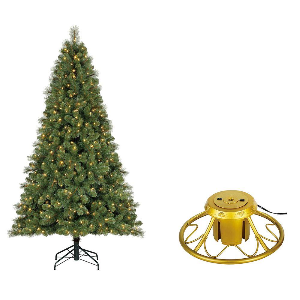 Home Heritage 7ft Prelit Artificial Cascade Pine Christmas Tree W Rotating Stand Walmart Com Pine Christmas Tree Rotating Christmas Tree Christmas Tree Stand Pre lit rotating christmas tree