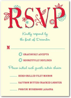 rsvp card wording for meals - Wedding Invitation Rsvp Wording