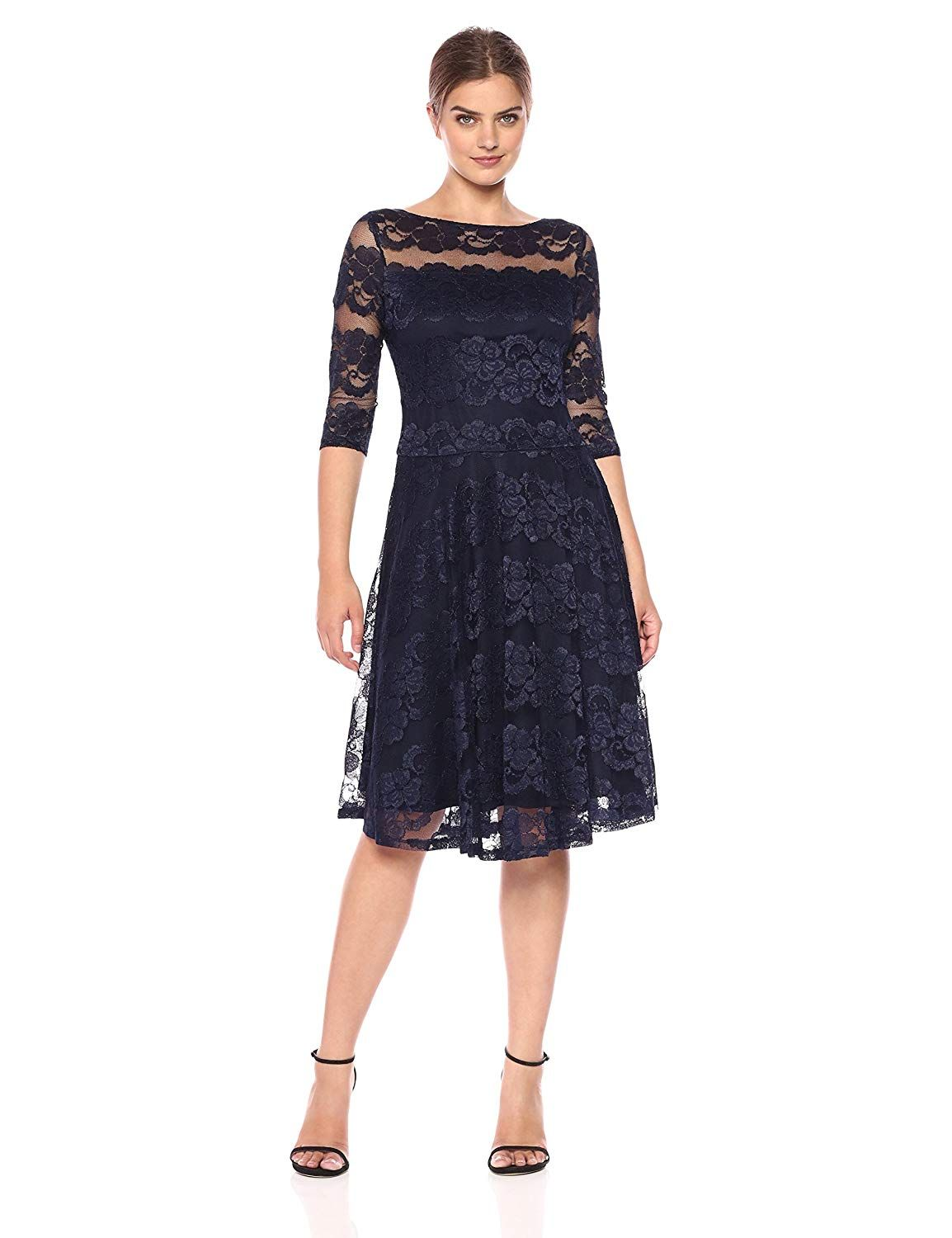 Amazon sangria womens 34 sleeve sequin lace party dress