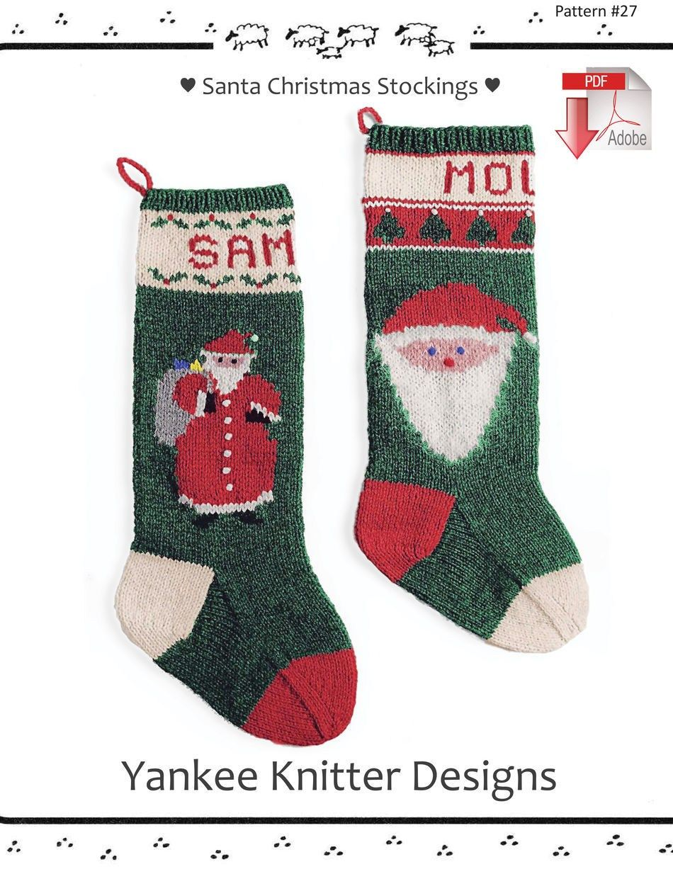 30 Pretty Picture of Knitting Pattern Christmas Stocking ...