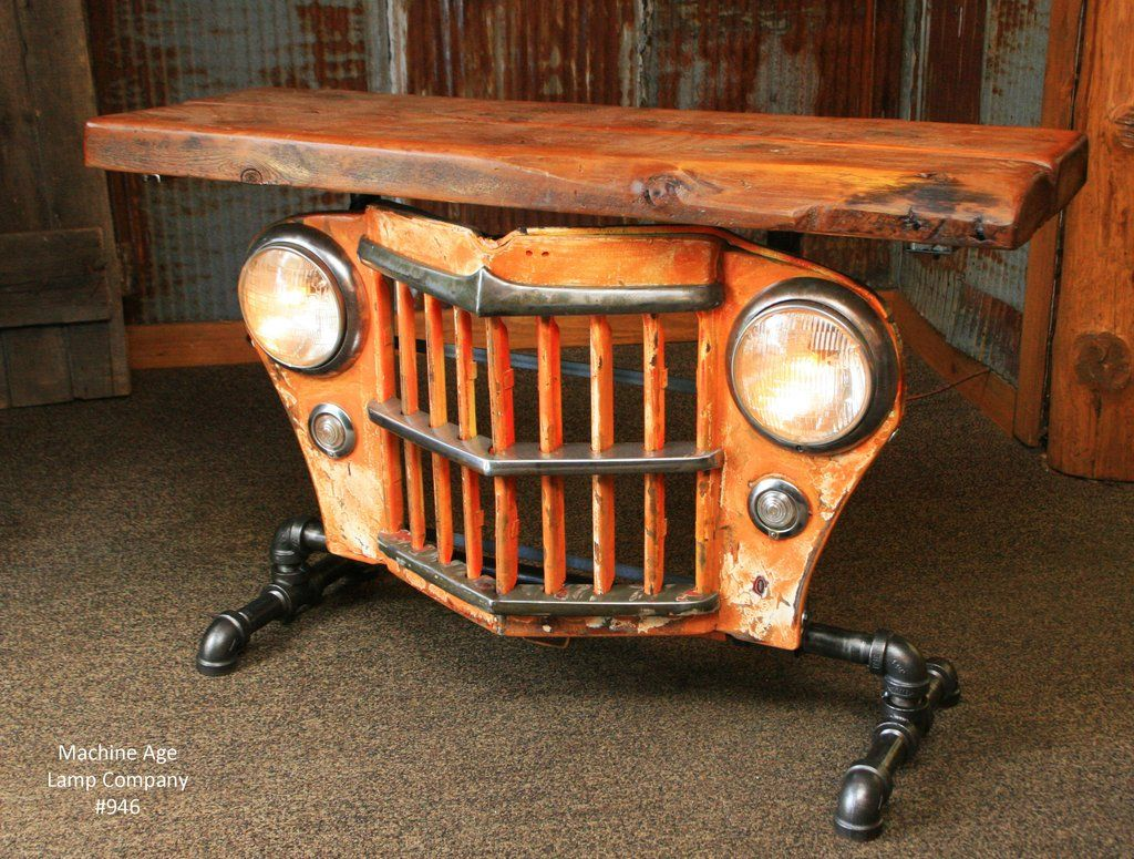 Jeep Desk Chair Dining Room Chairs Upholstered Copy Of Steampunk Industrial Table Willys Console