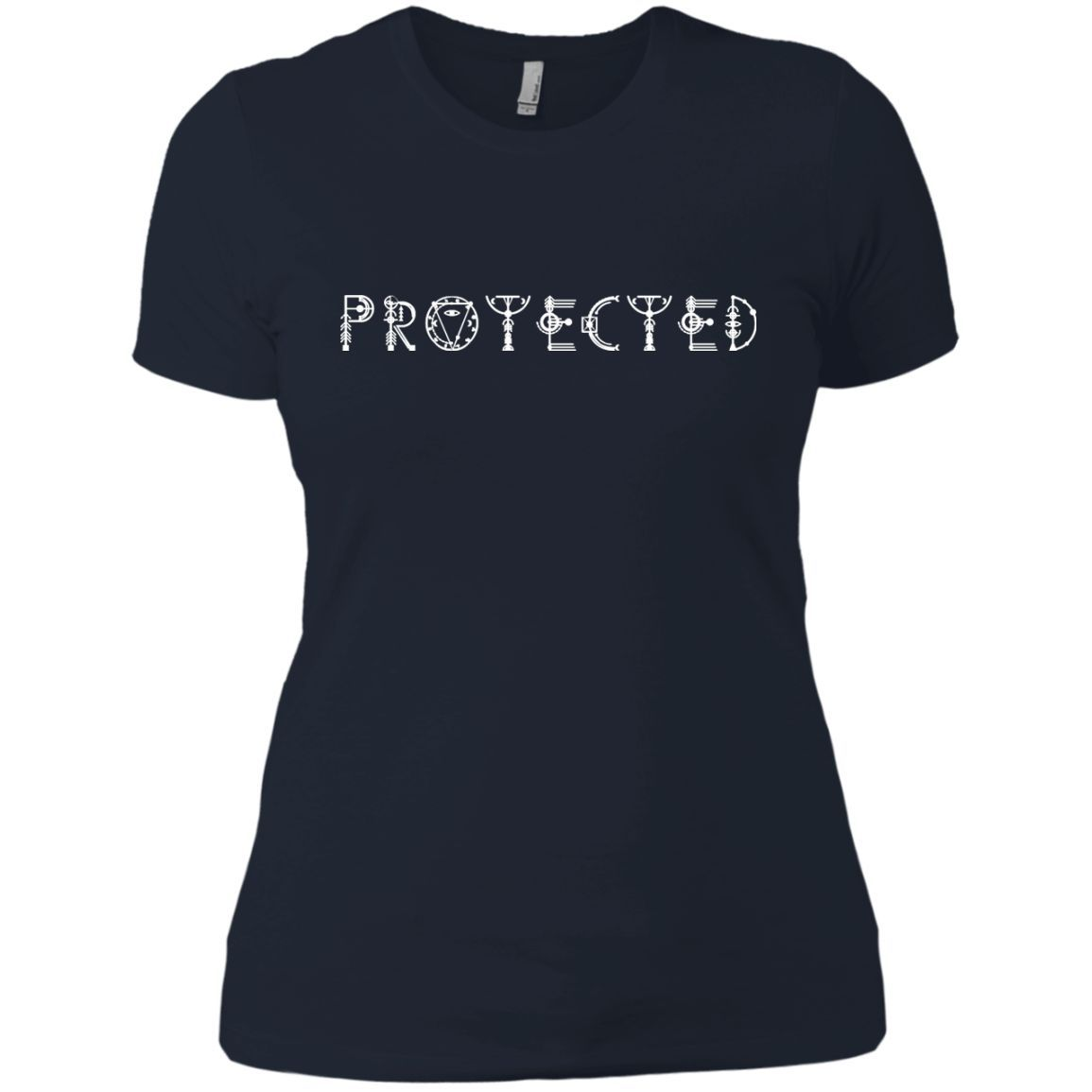 Enlightened Path Sacred Geometry Protected - White Next Level Boyfriend Tee
