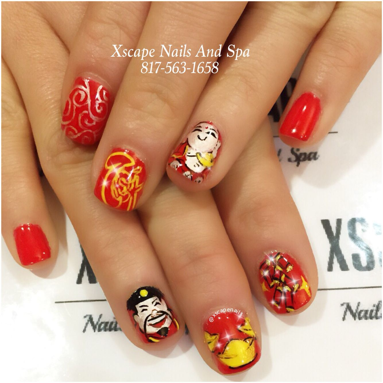 Chinese New Year nail designs | Cute Nails Designs | Pinterest ...
