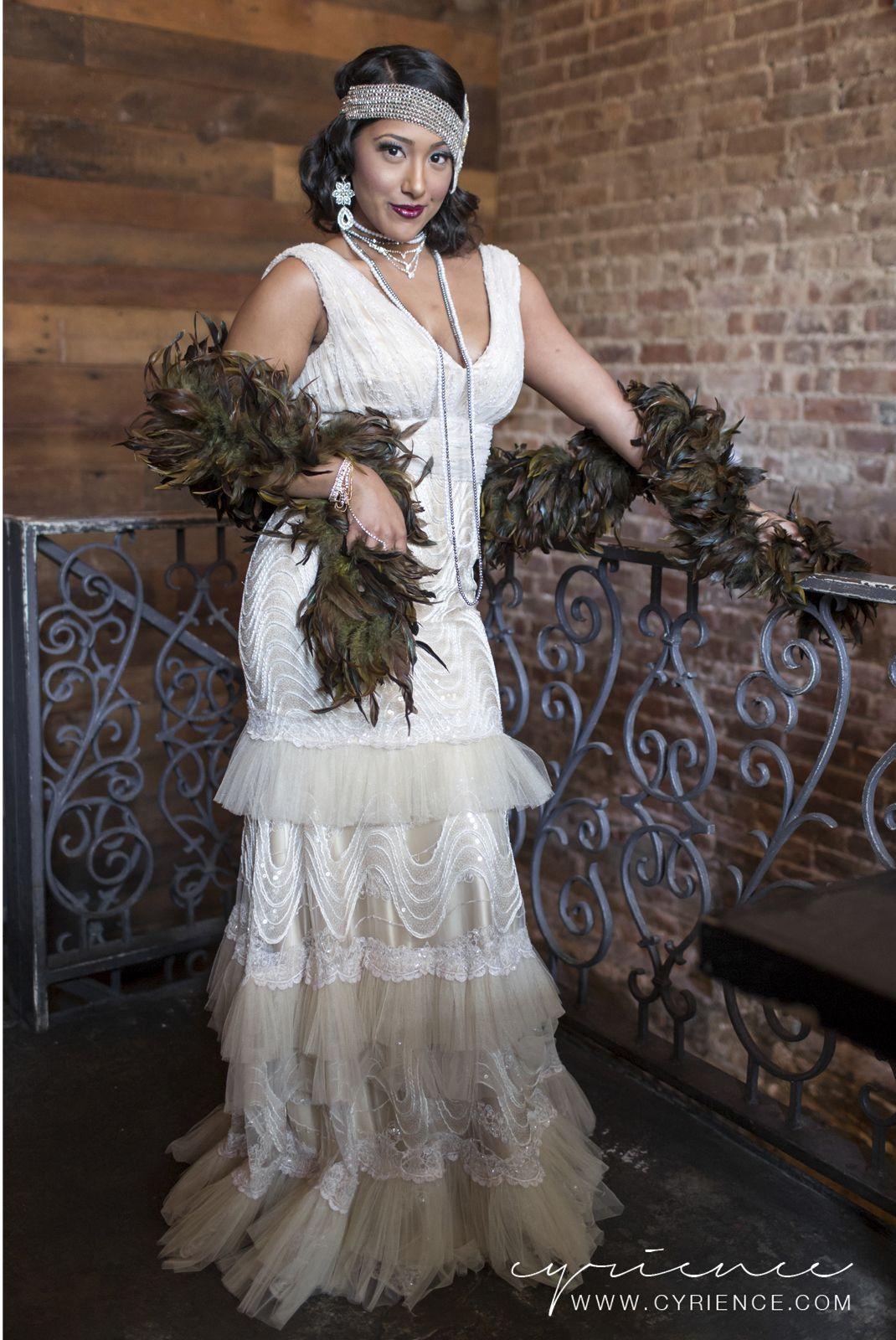 Allison williams wedding dress  Harlem Renaissance Inspired Wedding Shoot featured on BlackBride
