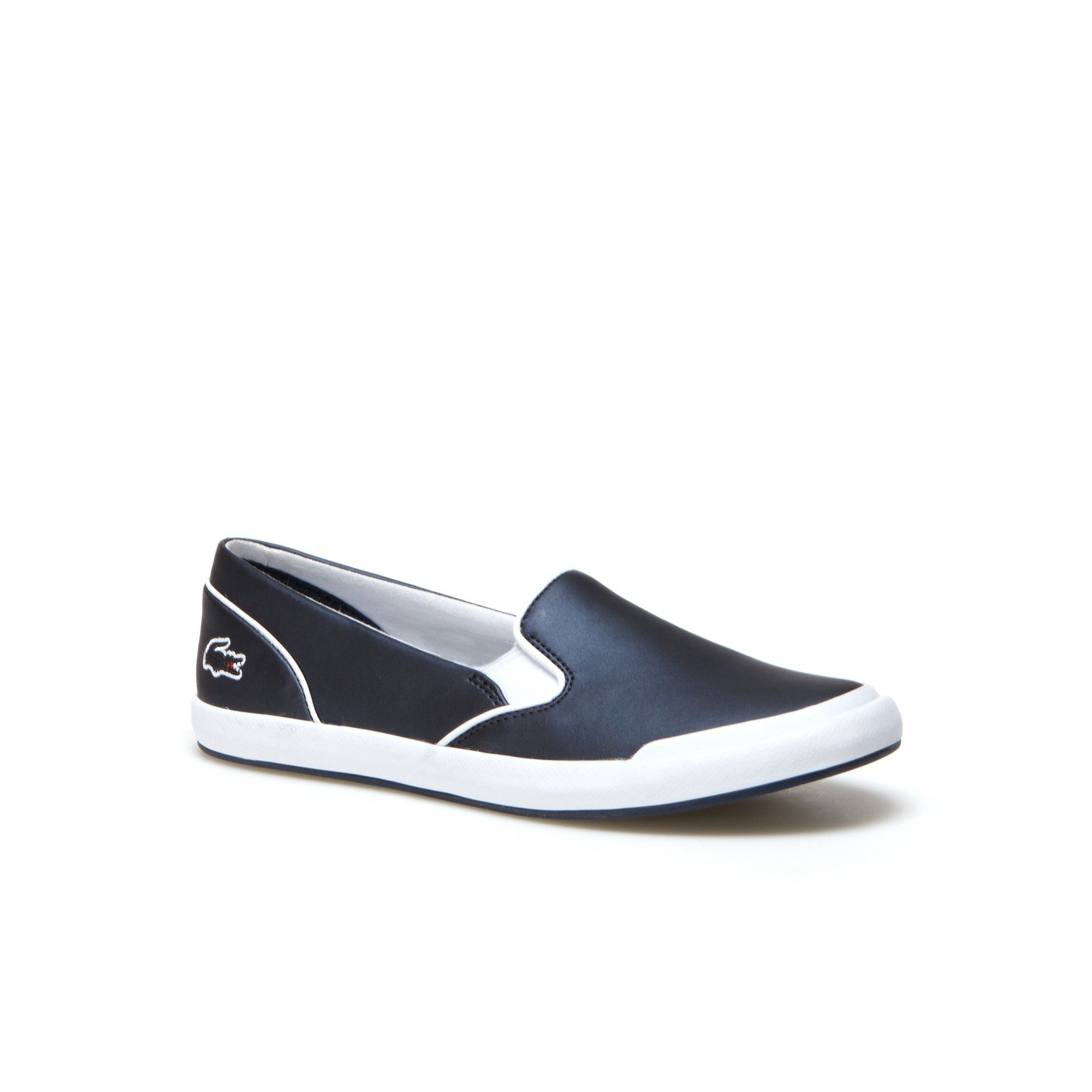 8c8519f79 LACOSTE Women s Lancelle Matte Metallized Slip-Ons - navy.  lacoste  shoes