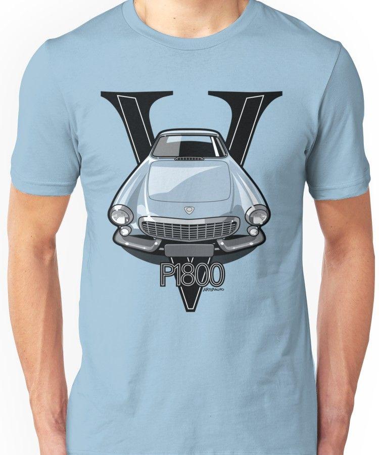 'Volvo 1800P Vintage Sports Car Retro Print' T-Shirt By