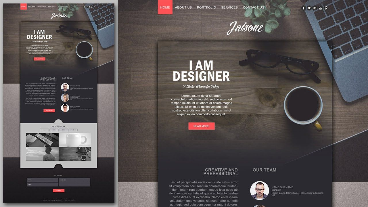Photoshop website design tutorial stylish portfolio with grain photoshop website design tutorial stylish portfolio with grain texture baditri Image collections