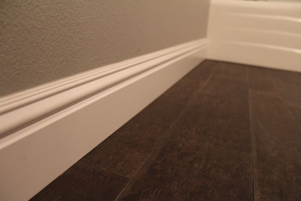 Baseboard With Tile Look Like Wood Floor Ceramic Floor
